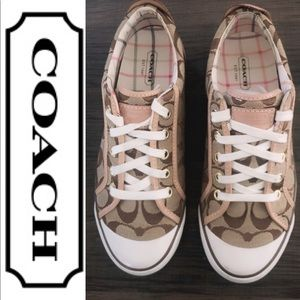 Coach Khaki/Nat Size 7.5 Sneaker Shoes